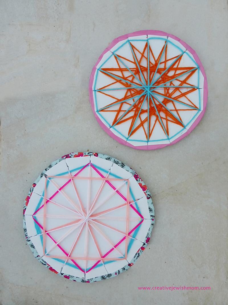 Geometric String Craft medallions Large