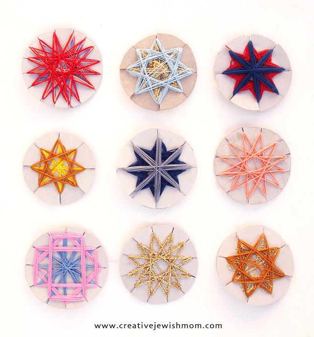 Hanukkah kids crafts string stars
