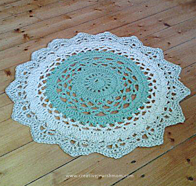 My Giant Doily Rug Crocheted Using Two Strands Of Yarn