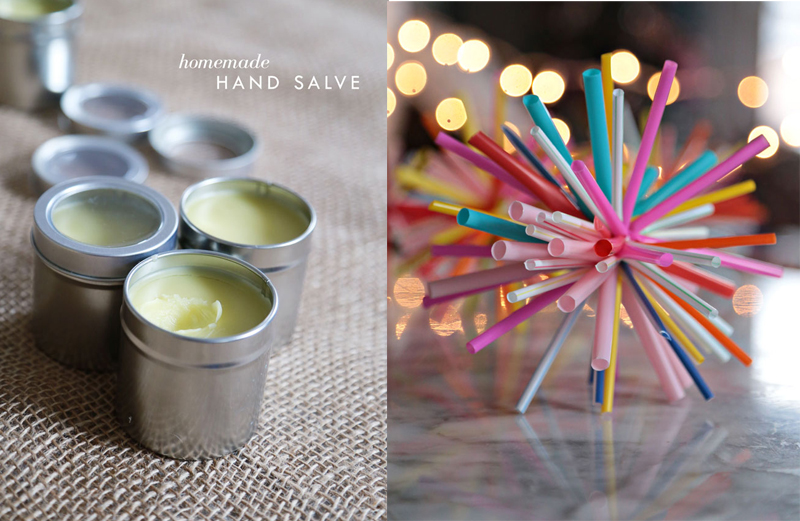 Straw starburst ornaments,homemade hand salve