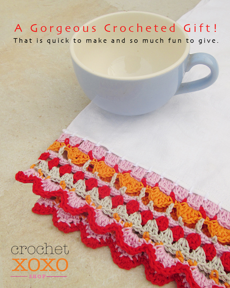 Crochetxoxo.com kitchen dishtowel edging pattern