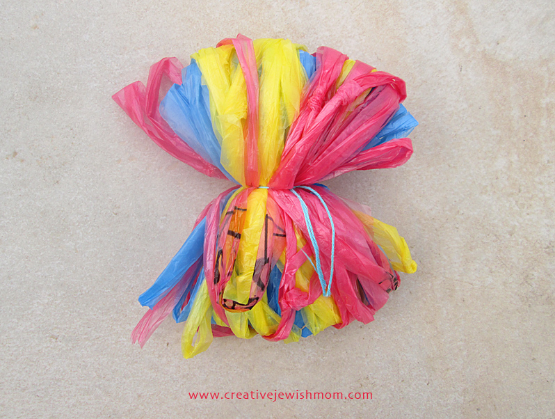 Plastic Bag Pom Pom How To Step 3