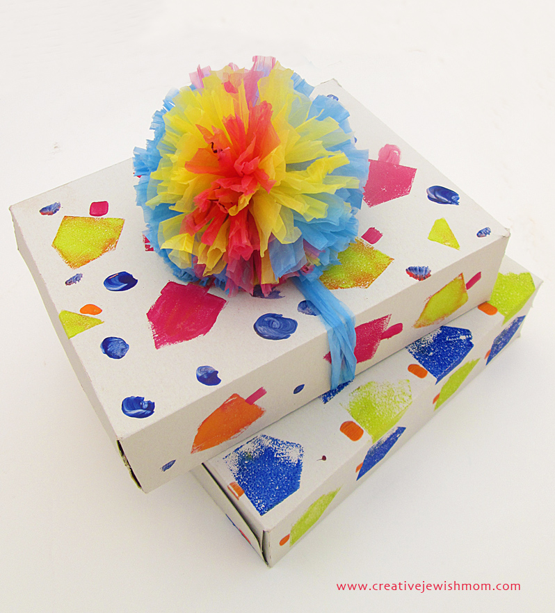 Cereal Box Hanukkah Gift Boxes
