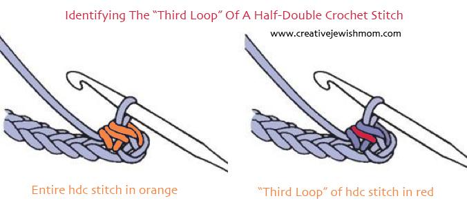Crochet Third Loop of Hdc Stitch