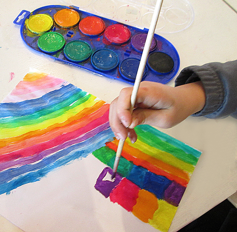 watercolor painting for kids cold winter day crafting idea get out the watercolors creative - Color Painting For Kids