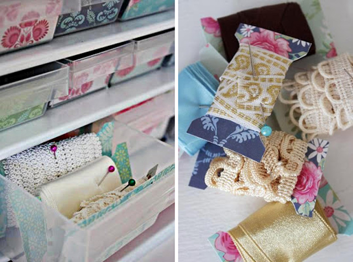 Trim and ribbon organization