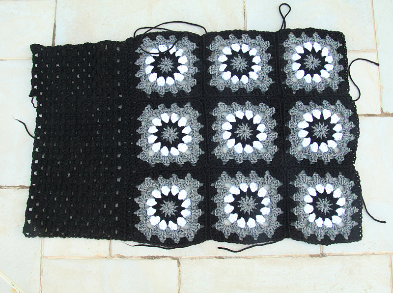 Granny Square Pillow WIP
