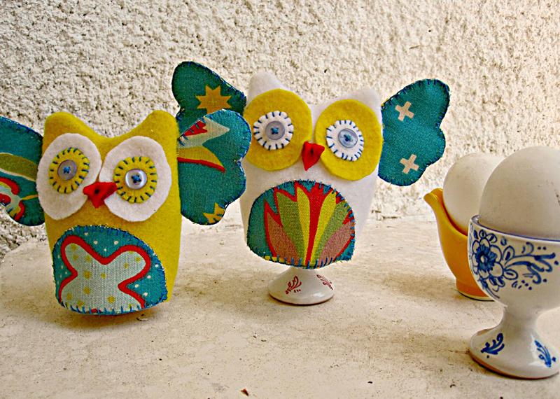Owl egg cozies