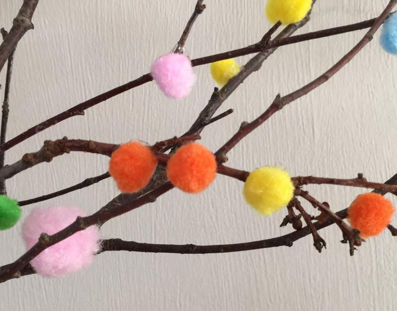Pom Pom blooms branches