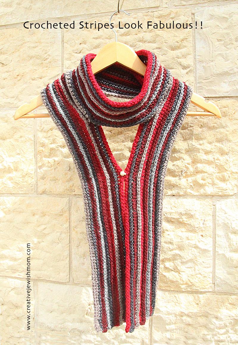 Crochet Stripes Scarf