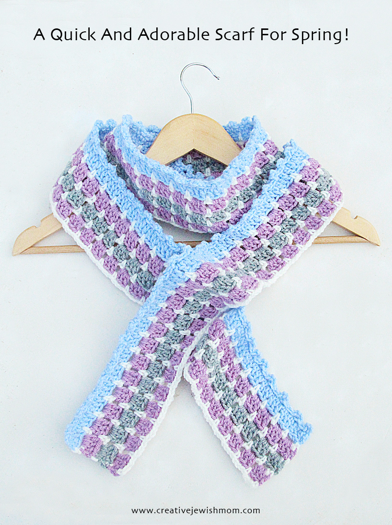 Crochet Double Crochet Mosaic With Ruffled Edge
