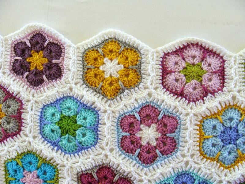African daisy crocheted