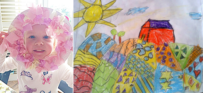 Wreath craft for kids,drawing exercise