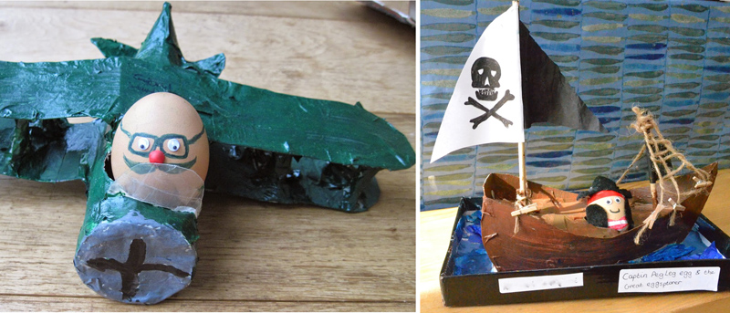 Egg decorating Pirate ship