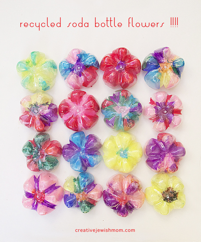 Flower craft plastic bottle bottom flowers