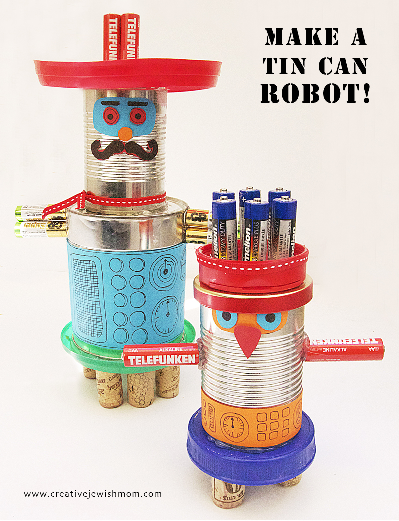 Tin Can Robot Characters from recycled materials