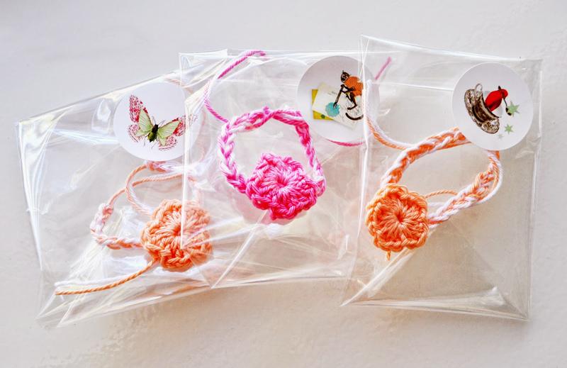 Crocheted bracelets party favors