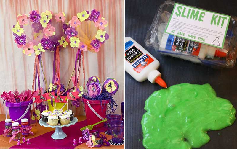 Unicorn birthday party,slime birthday party favors