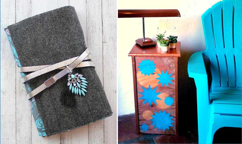 DIY Drawer side table,notebook with secret pocket