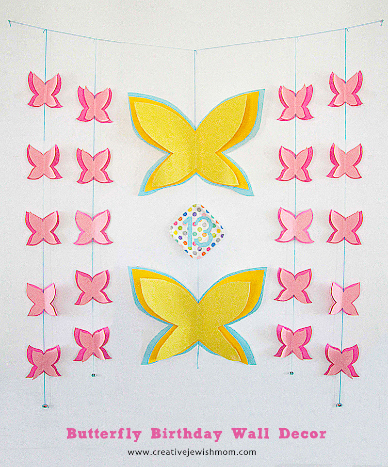 Butterfly Birthday Wall Decor