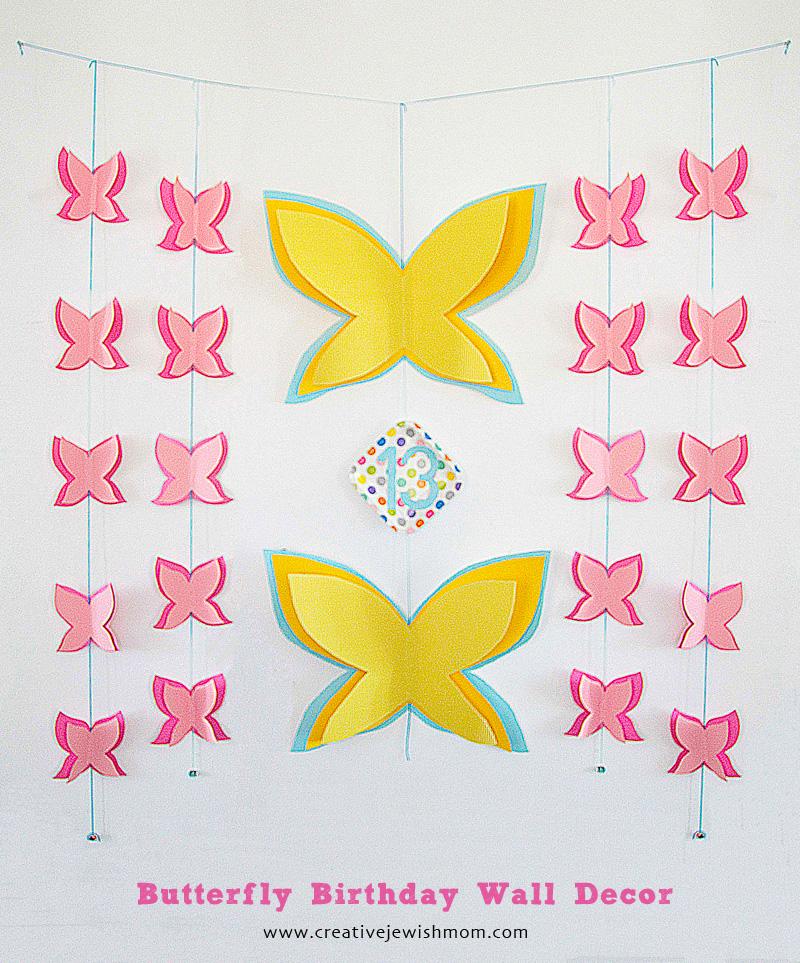 Butterfly Birthday Wall Decor