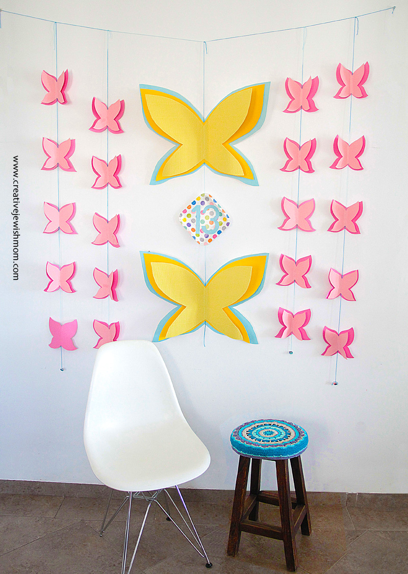 Butterfly Wall Decor For Birthday Or Baby