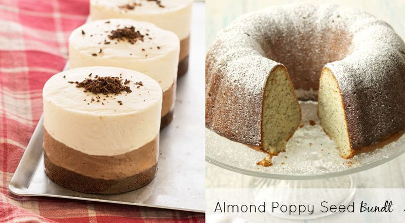 Almond poppy seed bundt,no bake halva mousse