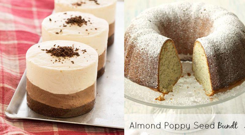 Almond poppy seed bundt,no bake halva mousse