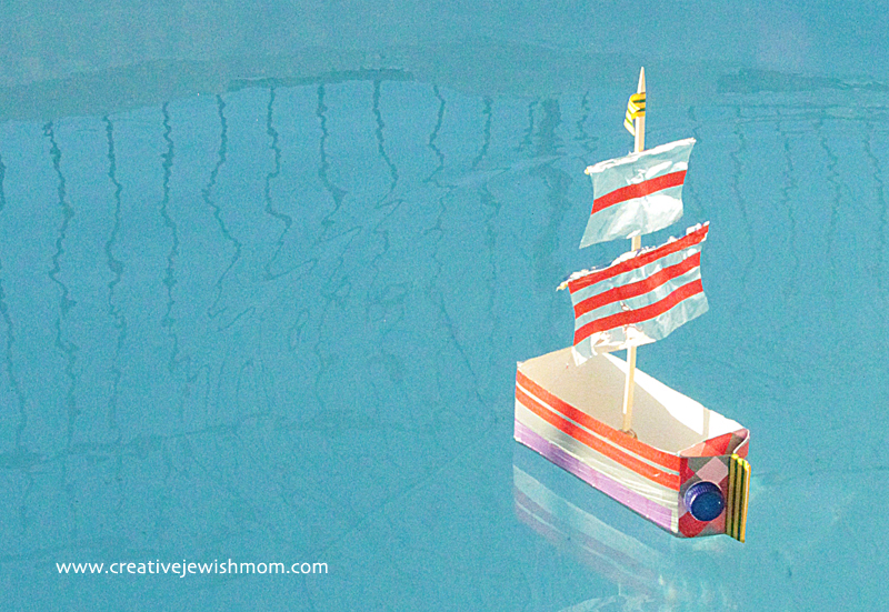 Milk Carton sail boat schooner