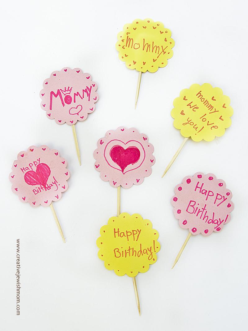 Birthday Cupcake Decorations Kid's Craft