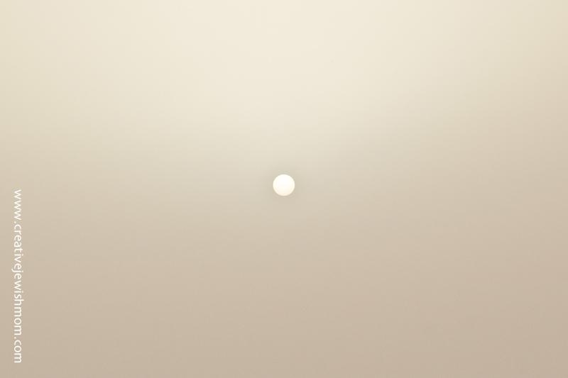 Dust Storm Israel Sun