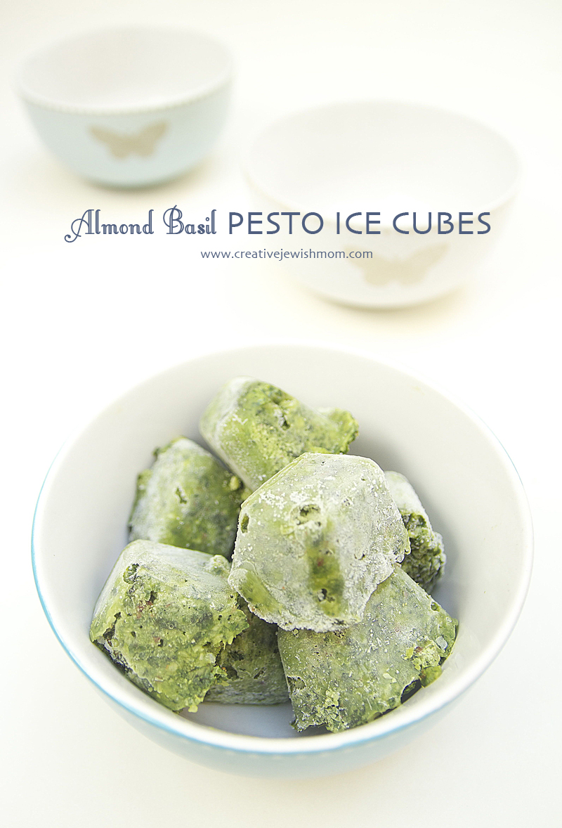 Pesto With Almonds Ice Cubes