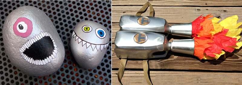 DIY jetpack for costume,monster rock doorstop