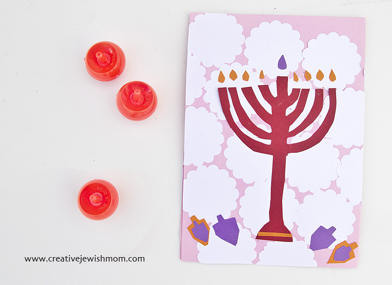 Hanukkah Kid's Craft Cut Paper  Holiday Cards