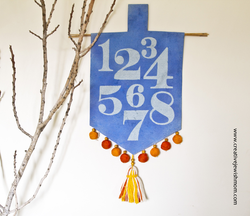 Hanukkah Craft Dreidel Wall Hanging