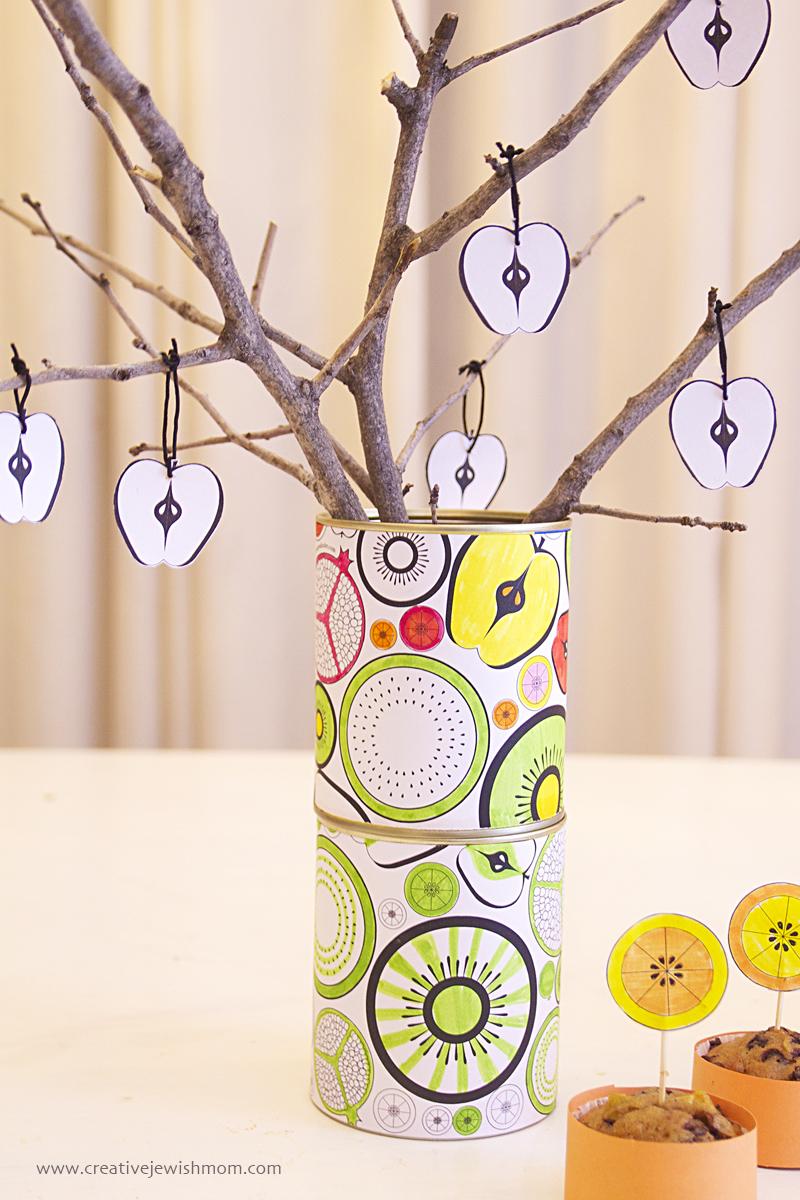 Tu B'Shevat Coloring Page Vase