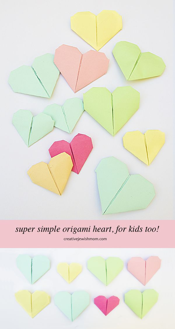 Origami Heart That Is Simple For Kids Too Creative Jewish Mom