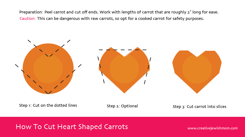 How To Cut Heart Shaped Carrots