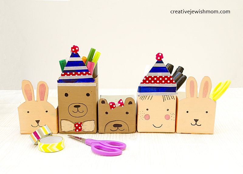 Milk Carton Craft Animal Gift Boxes