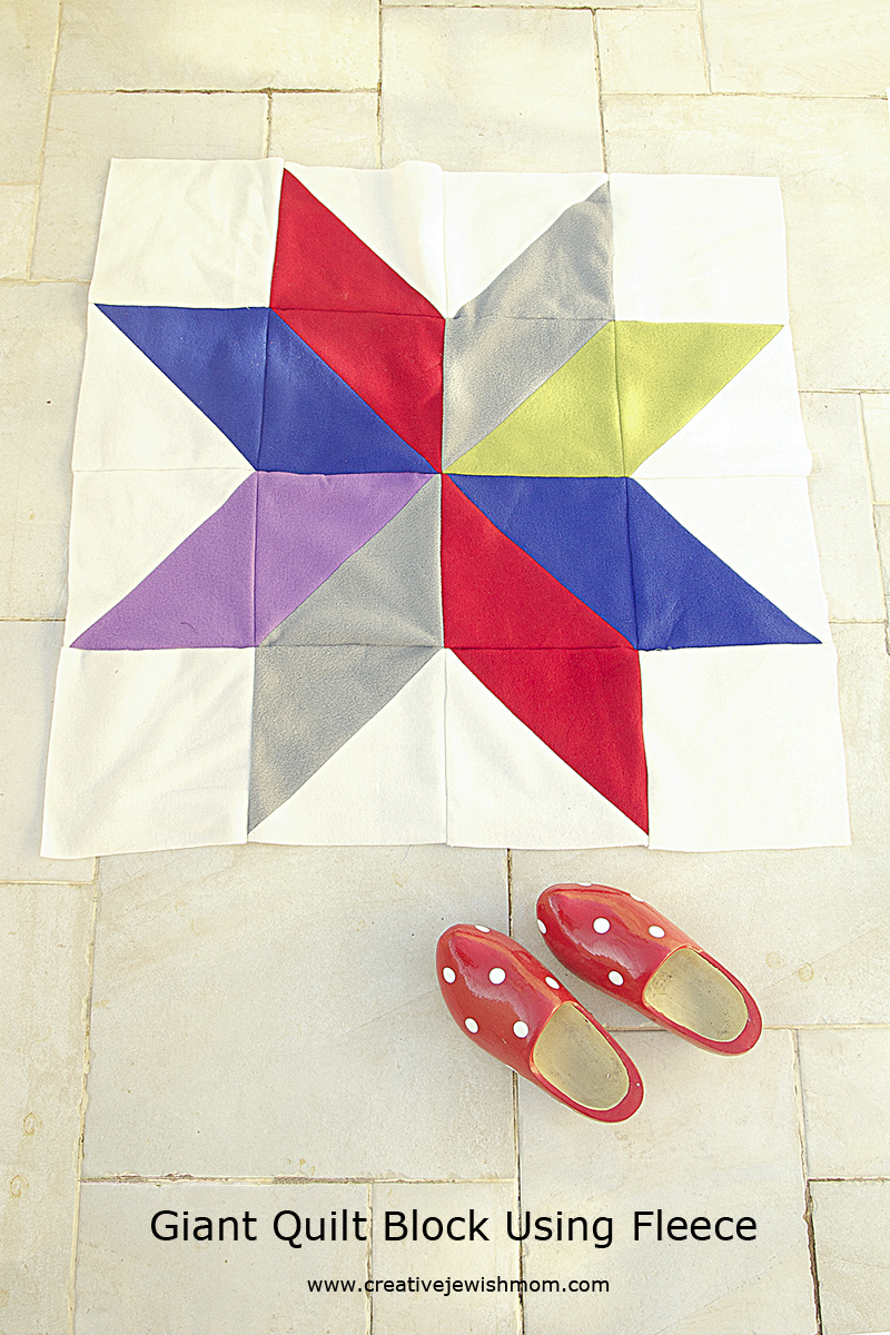 Giant Lonestar Quilt Block Using Fleece