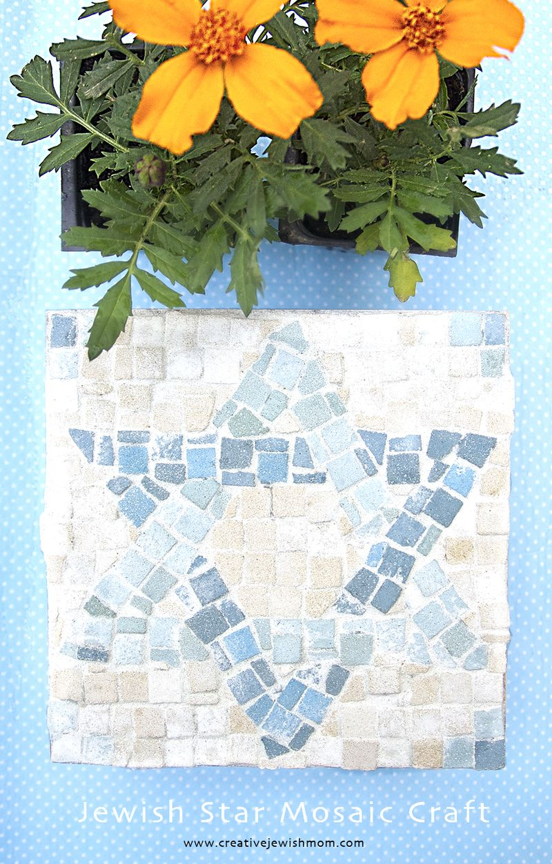 Mosaic Jewish Star Kid's Craft