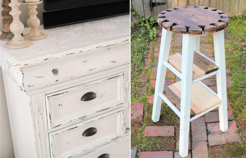 Kitchen stool table,distressed dresser