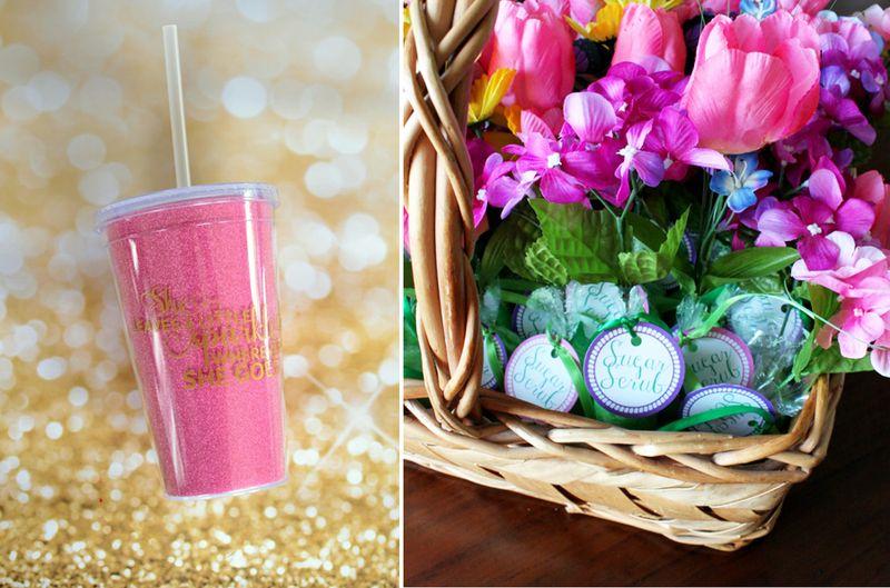 Glitter tumbler,sugar scrub flower favors