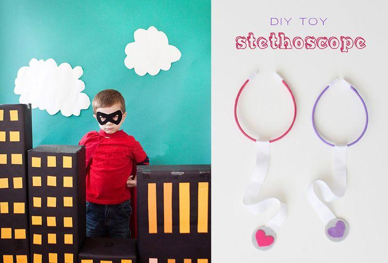Superhero birthday party,DIY toy stethescope
