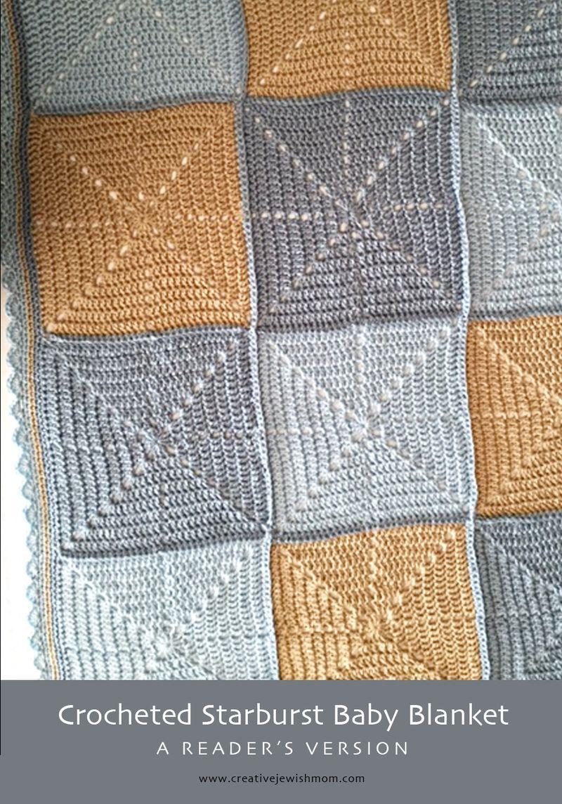 Crochet Starburst Baby Blanket reader version