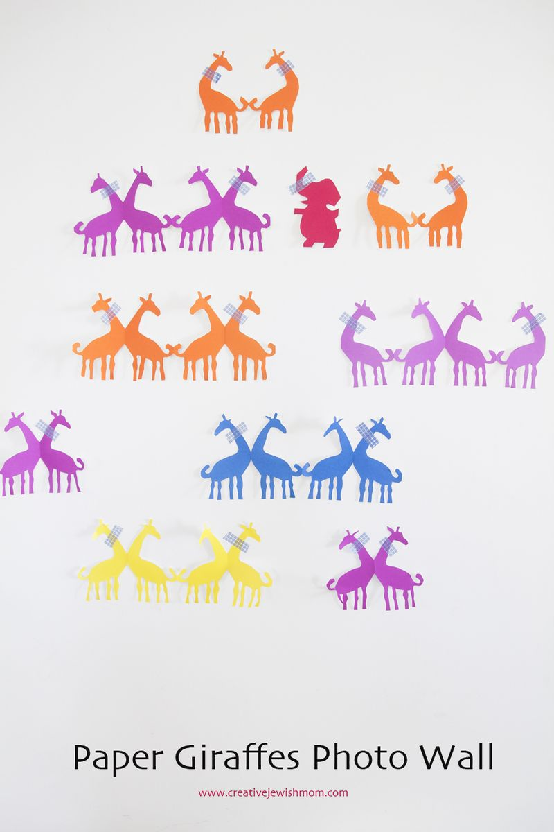 Giraffe Paper Dolls Close Up