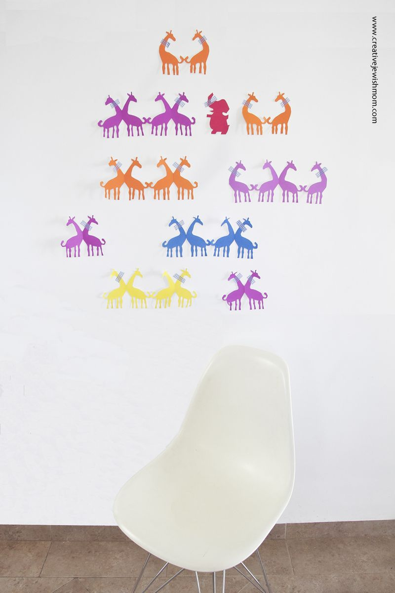 Giraffe Paper Dolls Wall Decor