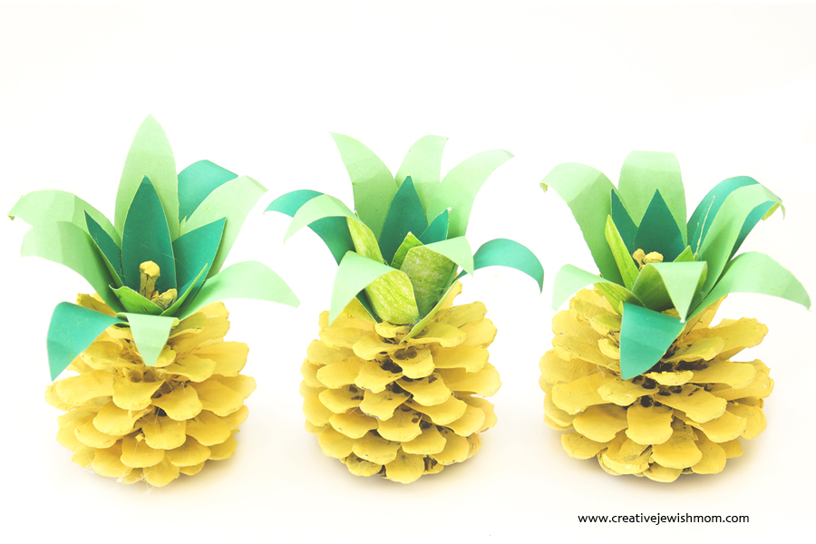 Pinecone Crafts Part - 47: Pinecone Pineapples Summer Kids Craft