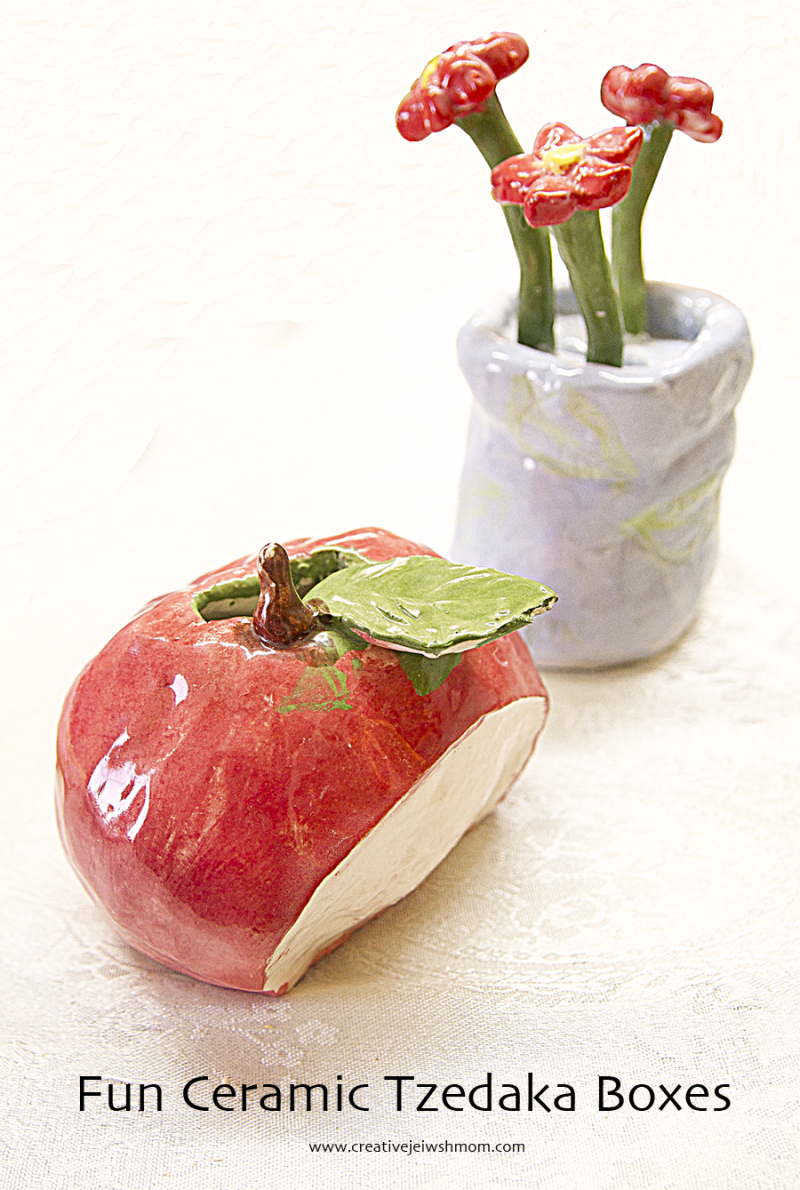 Tzedaka Box Craft Apple tzedaka box,bouquet tzedaka box
