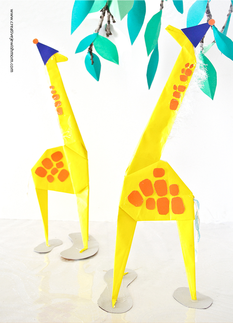 Giant Origami Giraffes For Giraffe Birthday
